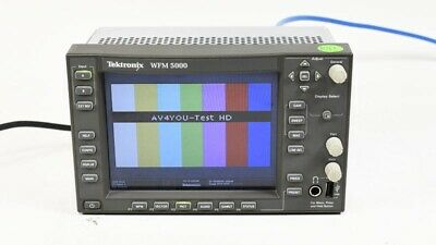 Tektronix WFM5000 Multi-format Waveform Monitor OPT: SD HD DG Audio #B010655