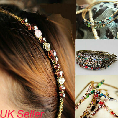 Christmas Gifts Womens Jewel Gems Headband Lady Girls Crystal Hair Band Headwear
