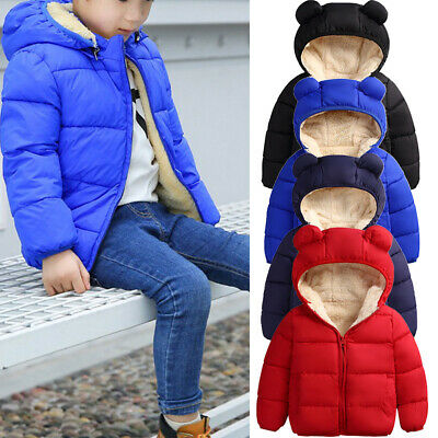 AU Toddler Kids Baby Girl Boys Clothes Warm Coat Hooded Jacket Outerwear Clothes