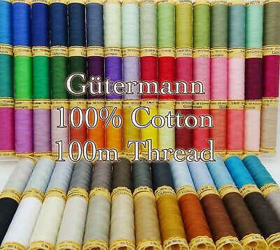 Gütermann Thread - 100m Reel 100% Cotton Machine + Hand Sewing Quilting