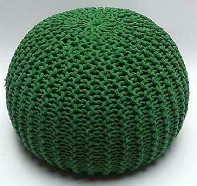 *Special Offer**Green Large Footstool Moroccan Handmade Knitted Poufe Clearance