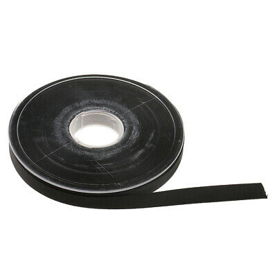25 Meters Double Faced Sided Satin Ribbon Trims Reels 10mm - Black Color