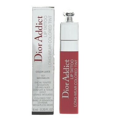 Diort Addict Lip Tattoo Long-Wear Coloured Tint 551 Watermelon