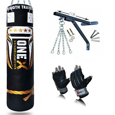 Onex Leather Wall Mount Striking Punch Bag Gym Boxing Pad Training