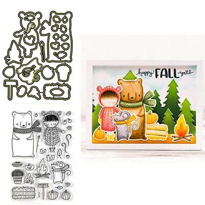 Happy Retirement Combo Clear Stamps Coordinating dies for DIY Scrapbooking Craft