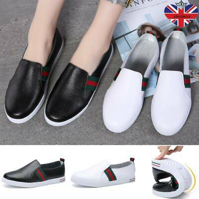 Womens Casual Comfy Slip On Ladies Flats Shoes Pumps Trainers Loafers Sneakers