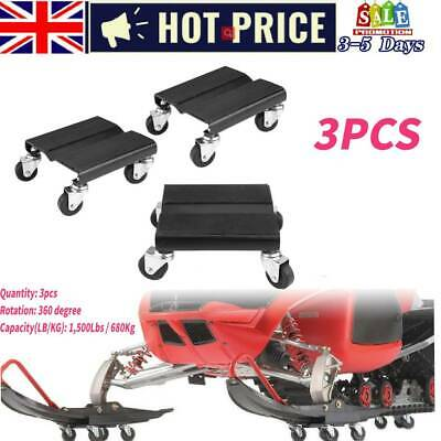3Pcs Tire Auto Wheel Dolly Skate Repair Snowmobile Moving Jack Set 1500lbs/680kg