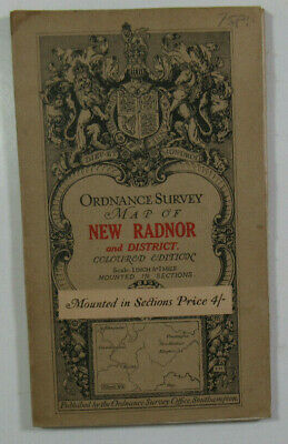 1908 Old OS Ordnance Survey One-inch Third Edition Large Sht Map 80 New Radnor