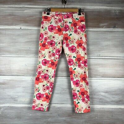 The Childrens Place Girls Kids Flowered Adjustable Waist Pants - Size 12