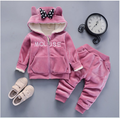 Toddler Girls 2 Pcs WINTER Warnlined Outfit Gift Set Size 0-3 Years Tracksuits