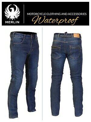 MERLIN Route One Mason Motorcycle Denim Jeans Reinforced Reissa Waterproof Pants