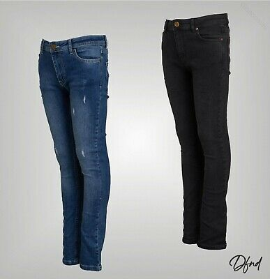 Boys DFND London Distressed Classic Slim Fit Jeans Sizes Age from 5 to 15 Yrs