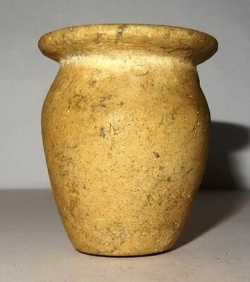 Pot Egyptian Stone - New Kingdom 1552/1069 BC - Egyptian Stone Vessel Jar