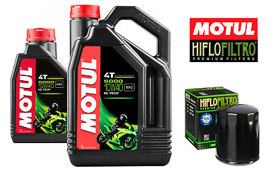 Motul 5000 4T 10W40 Motorcycle Engine Oil 10W-40 5 Litres 5L + Free Oil Filter