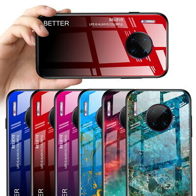 Gradient Glass Marble Hard Case Cover For Huawei Mate 30 Pro P20 P30 Lite Nova 5