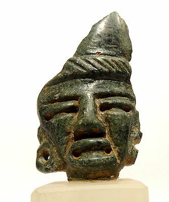 Mask pre Colombian in Jade - Teotihuacan- 300 ad - Pre-columbian Jade Mask