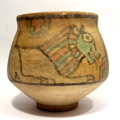 Rare Vase Decorated with - Valley Indus - Harappa 2000 BC, - Painted Terracotta