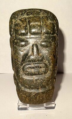 Rare Idole Mezcala Sculptured - Pre-colombian 300/100 BC Precolumbian Carved