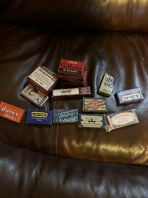 Old Vintage Lot Of 15 Safety Razor Blades