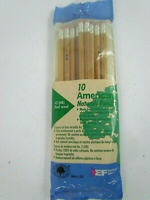 Faber American Vtg Real Wood Pencils 10 Certified Non Toxic American Naturals