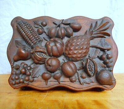 Exceptional Antique 19th C. Carved Mahogany Box Signed by Maker Hunterdon Cty NJ