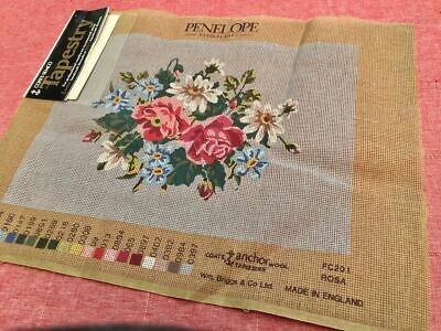 Coats Semco Large Unworked Tapestry Cross Stitch Embroidery Canvas PENELOPE