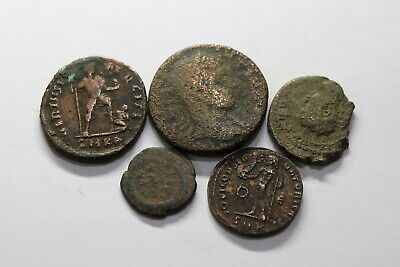 Ancient Roman Imperial & Ancient Greek 5 Coins Lot B18 Wu33