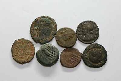 Ancient Roman Imperial & Ancient Greek 7 Coins Lot B18 Wt14