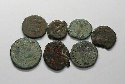 Ancient Roman Imperial & Ancient Greek 7 Coins Lot B18 Ww50