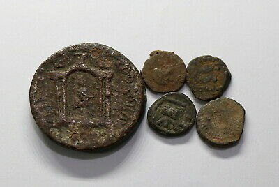 Ancient Roman Imperial & Ancient Greek 5 Coins Lot B18 Wu39