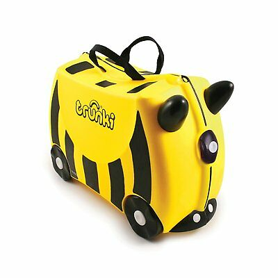 Trunki Original Kids Ride-On Suitcase and Carry-On - Bernard Bee (Yellow)