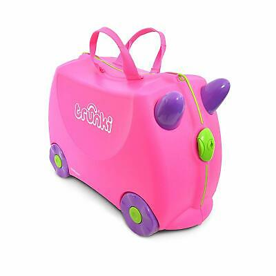 Trunki Original Kids Ride-On Suitcase and Carry-On Luggage - Trixie (Pink)