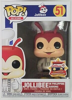 Funko POP Asia EXCLUSIVE Jollibee in Barong #51 Ad Icons Vinyl Figure