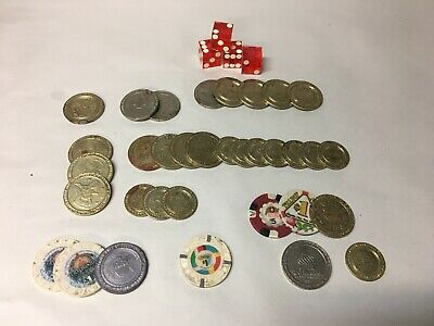 Obsolete  Atlantic City Casino Tokens & Chips Trump Plaza Taj Mahal Ballys .50/1