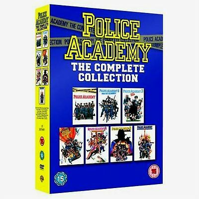 Police Academy - Complete Movies Collection Box Set Steve Guttenberg New UK DVD