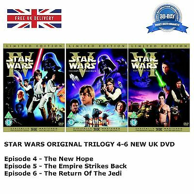 STAR WARS ORIGINAL TRILOGY SERIES 4-6 Theatrical Remastered 4 5 6 New UK R2 DVD
