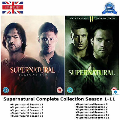 Supernatural Season 1-11 with complete episodes 1 2 3 4 5 6 7 8 9 10 11 New DVD