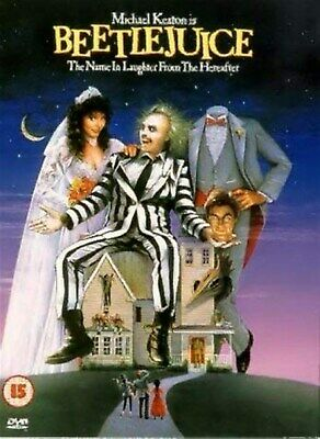 BEETLEJUICE - Michael Keaton, Alec Baldwin, Geena Davis NEW UK REGION 2 DVD PAL