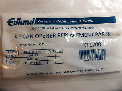 Edlund #2 Can Opener Replacement Parts Kt 1200  Kt1200