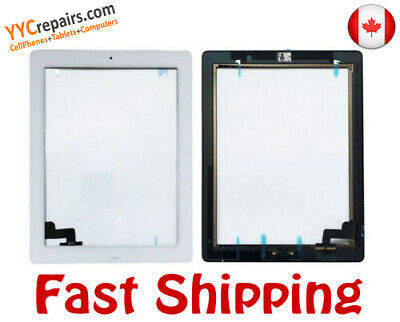9.7 iPad 2 2nd Gen Front Touch Screen Digitizer Glass + Home Button + Adhesive