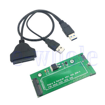 """SATA Adapter USB Cable For ASUS EP121 UX31 SANDISK ADATA XM11 SSD 2.5"""" 3.5"""" GW"""