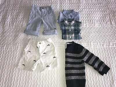 Janie & Jack Baby Boys Bundle - Shorts Shirts Jumper - 6-18 Months