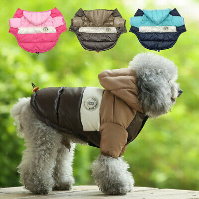 Warm Padded Dog Coat Jacket Chihuahua Winter Pet Clothing Small Cat Puppy Hoodie