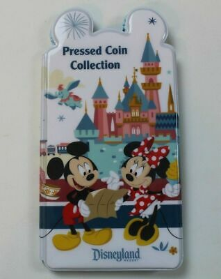 Disney Parks Disneyland Pressed Coin Collection Book Penny Quarter NEW