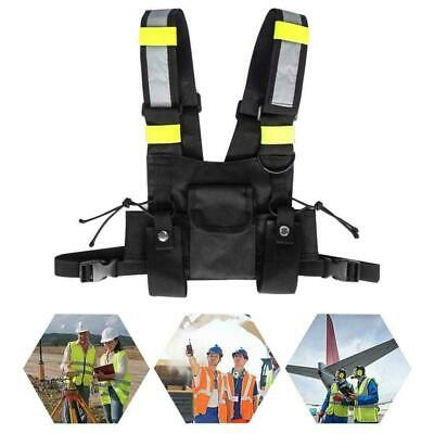 Safety Vest Wireless Tactics Security Waistcoat w/Multi pockets&Adjustable Strap