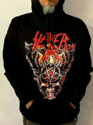 SLAYER BIG SKULL HOODIES PUNK ROCK BLACK MEN's SIZES