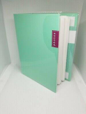 100 Book Bound Picture Photo Album (TIFFANY BLUE MINT)