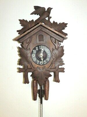 Nice  Cuckoo Clock Black Forest Clock 1930 - 1960 With Two Weights