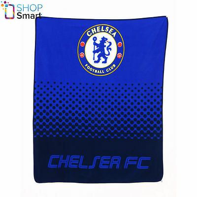 Chelsea Fc Fade Football Soccer Club Team Fc Fleece Blanket Cover Quilt New