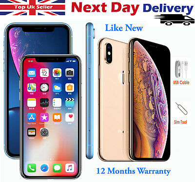 Apple iPhone XS XR 64GB 128GB 256GB Unlocked SIM Free Smartphone Various Colours